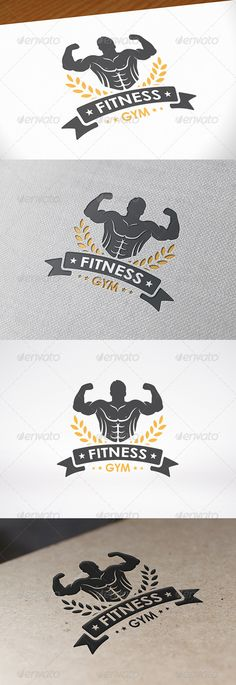 Power Gym Logo Template — Vector EPS #strength #wellness • Available here → https://graphicriver.net/item/power-gym-logo-template/8095851?ref=pxcr