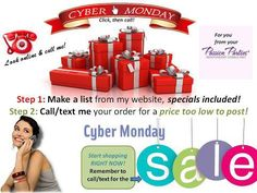 CYBER MONDAY SALE... contact me with your wish list today!! I will be standing by 866- 854-1481