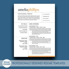148 best resume template for instant download images on pinterest