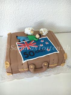 (Bild) Torte Neuseelandkoffer