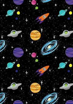 Raum-Cartoon-Aliens-Rakete-Schiffe-Planeten-Galaxy-iPhone-Wallpaper Source by baharbakkal Planets Wallpaper, Wallpaper Space, Screen Wallpaper, Cool Wallpaper, Pattern Wallpaper, Mobile Wallpaper, Wallpaper Designs, Music Wallpaper, Wallpaper Samples