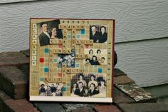 Scrabble Board Family Pictures