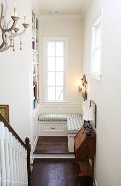 Reading Nook In Stair Landing - Keystone Millworks Inc