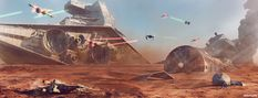 Battle of Jakku - Star Wars Battlefront - Concept Art from star wars universe - Modelling with Cinema4DR16 and textured in photoshop CC with Wacom Tablet - Add me on facebook for work in progress f...