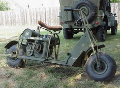 WWII Cushman Airborne Military Motor Scooter