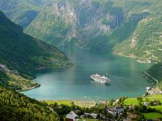 View of Geirangerfjord by TravelingOtter.