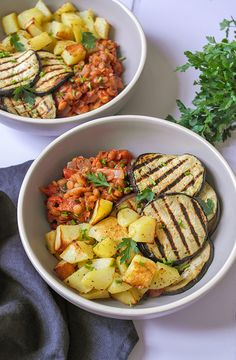 Vegan moussaka bowl