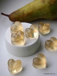 Fruchtgummi-Birnen-Herzen