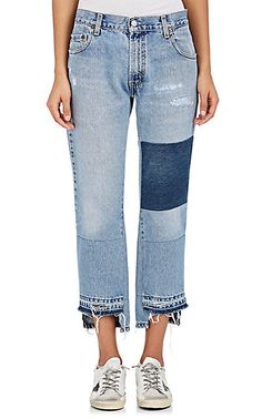 We Adore: The Franki Patchwork Crop Jeans from Nili Lotan at Barneys New York