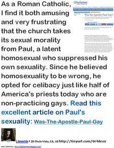 Non-practising homosexual