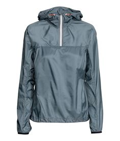 Lightweight running jacket with sections in water-repellent functional fabric, zip at top, and pocket at back with zip.| H&M Sport