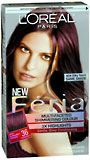 Feria haircolor--chocolate cherry.  Dark burgundy hair seems to work for me--colors the gray.