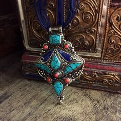 Tibetan handmade necklace -  ethnic necklace - tribal necklace - gypsy style by Omanie on Etsy