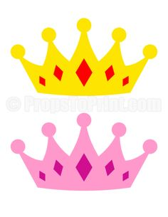 Printable crown photo booth prop. Create DIY props with our free PDF template at http://propstoprint.com/download/crown-photo-booth-prop/