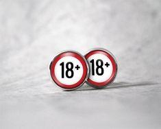Boucles d'oreilles cabochon 12 mm / 18 ans et | Etsy