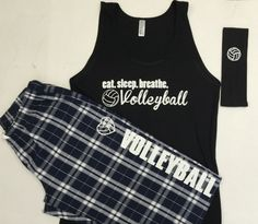 The best present ever for your Volleyball player. Soft, cute and trendy. Set comes with Tank, Eat.Sleep.Breath. Volleyball, fleece Pant and Headband. Made of 100% soft cotton fleece. Fleece pant run i