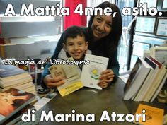 Librerie del Libro sospeso - Google+ Nelle mani di Mattia 4 anni, Asilo Cappuccini Polla, il libro dono di Marina Atzori, attraverso Blog Crossing.