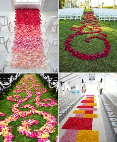 beautiful aisle runners....