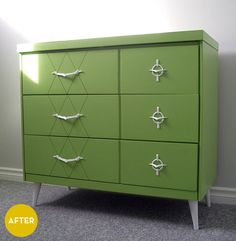 Furniture Redo Before and After   ... ://www.billiemonster.com/blog/article/before-and-after-ugly-dresser