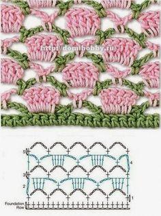 Watch This Video Beauteous Finished Make Crochet Look Like Knitting (the Waistcoat Stitch) Ideas. Amazing Make Crochet Look Like Knitting (the Waistcoat Stitch) Ideas. Crochet Stitches Chart, Crochet Motifs, Crochet Diagram, Knitting Stitches, Knitting Patterns, Crochet Patterns, Crochet Borders, Afghan Crochet, Blanket Patterns