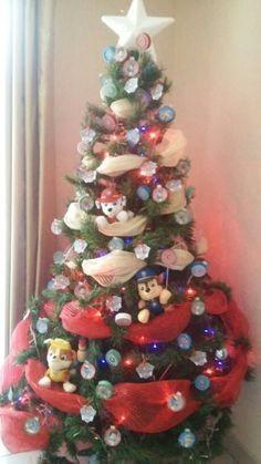 Christmas Tree Kit, Christmas Tree Themes, Plaid Christmas, Xmas Tree, Christmas Wreaths, Christmas Things, Paw Patrol Christmas, Paw Patrol Birthday, Santa Hat