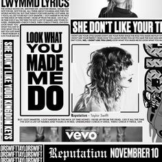 Taylor Swift - Look What You Made Me Do made by thiago | fanmade music artwork | Coverlandia