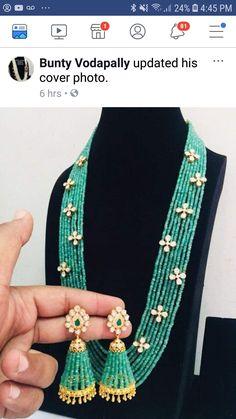Gold Temple Jewellery, Fancy Jewellery, Gold Jewellery Design, Bead Jewellery, Fashion Jewelry Necklaces, Gold Jewelry, Antique Jewellery Designs, Beaded Jewelry Designs, Gold Earrings Designs