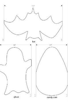 Bat and Ghost Template #Halloween