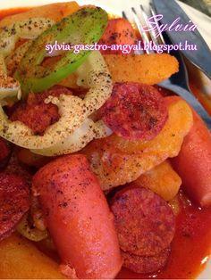 Sylvia Gasztro Angyal: Paprikás krumpli Vegetables, Food, Veggies, Essen, Vegetable Recipes, Yemek, Meals