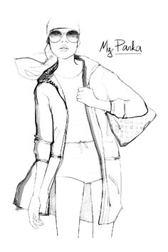 Louis Vuitton Icones The Perfect Parka Illustration by Garance Dore
