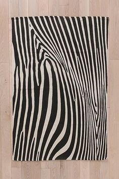 Magical Thinking Zebra Rug - Urban Outfitters-- 4x6 $69