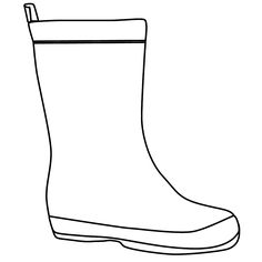 The Boot Kidz | Outline of Wellington Boot/Stencil for colouring-