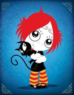 ruby gloom | Ruby Gloom ™/© Mighty Fine. NELVAVA is a trademark of Nelvana ...