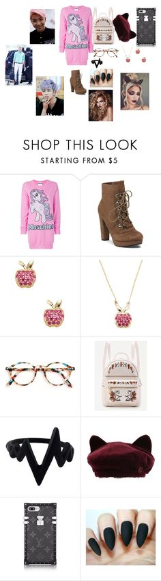 """""""BTS Namjoon"""" by btsloveforlife ❤ liked on Polyvore featuring Moschino, Sydney Evan and Maison Michel"""