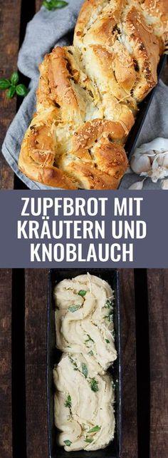 Dieses Knoblauch-Käse-Zupfbrot ist einfach und unglaublich lecker! Mit Knoblauchbutter und extra viel Käse - Kochkarussell.com