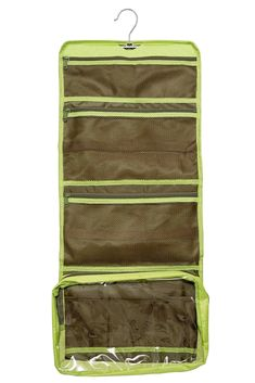Lilliput Hanging Toiletry Bag & Cosmetic Organizer, Extra Large, YKK Zippers (Lime)