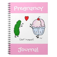 Pickle Loves Ice Cream Pregnancy Journal Notebook