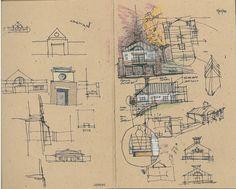 Hiawassee City Hall Sketches - 2000