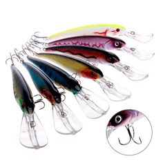 1PC Minnow Fishing Lure Deep Sea Trolling 2# Hook Bait Crankbait Tackle 29g #Affiliate