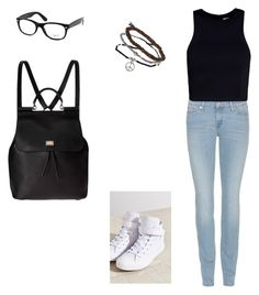 """Untitled #20"" by babyjones3 ❤ liked on Polyvore featuring Converse, 7 For All Mankind, T By Alexander Wang, Topshop, Dolce&Gabbana and Ray-Ban"
