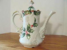 Lefton Christmas Tea Pot   eBay