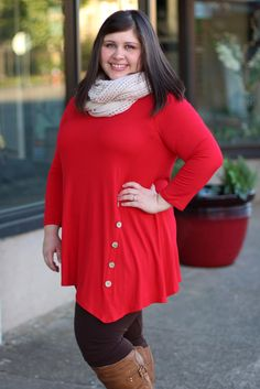 Red Twirl Tunic {Curvy} | The Fair Lady Boutique