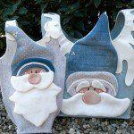 Baby Crib Bumpers, Baby Cribs, Christmas Crafts, Christmas Decorations, Christmas Ornaments, Holiday Decor, Felt Crafts Patterns, Santa, Painting