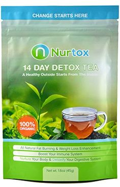 Nurtox: The Best Detox Tea on Amazon- Organic, 100% Natural Herbal Tea Blend- 2-Week Program To Help Lose Weight, Reduce Bloating, Cleanse Your Body, Improve Digestion,