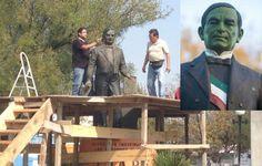 Restauran estatua verde de Benito Juárez en Nuevo León | Nacional | El Diario