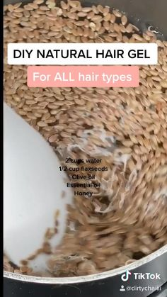 DIY Natural Hair Gel for ALL hair types! - Works on literally every curly headed person! It provides definition, shine & bounce as well as prom - Natural Hair Gel, Natural Hair Growth Tips, Natural Hair Regimen, Natural Hair Styles, Natural Facial, Products For Natural Hair, Products For Curly Hair, Diy Hair Growth, Hair Growth Products