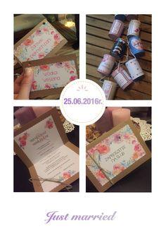 Ręcznie robione zaproszenia ślubne, puszki na samochód - kontakt: http://www.mmgrafika.pl/kontakt/