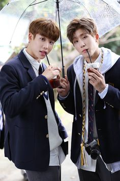 Astro official Fancafe - MyungJun e JinJin Korean Bands, South Korean Boy Band, Korean Guys, K Pop, Kim Myungjun, Park Jin Woo, Jinjin Astro, Astro Wallpaper, Lee Dong Min