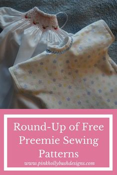 Start your New Year sewing for charity with these free Wee Care Preemie Sewing Patterns.