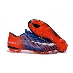 ad2d3eea0f5941 Billiga Nike Mercurial Vapor XI FG - Orange Blå Vit Fotbollsskor för män  Nike Football Boots